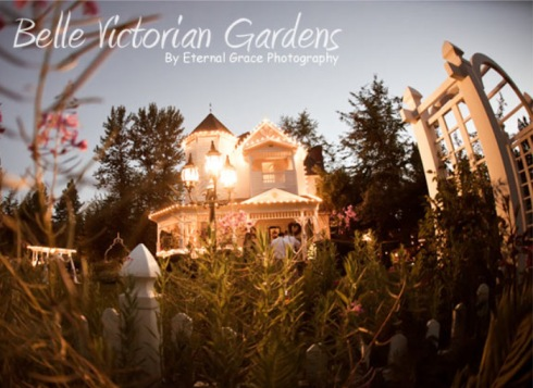 Spokane wedding at Belle Victorian Gardens