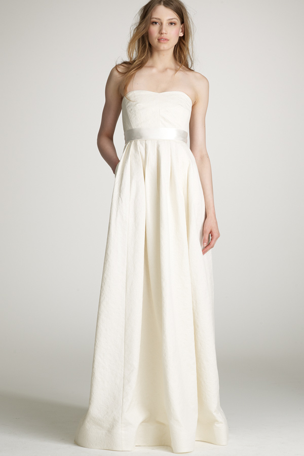 Top wedding gowns from j crew apple brides for J crew short wedding dresses
